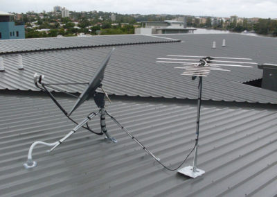 rc student accommodation satellite antenna roof cable broadcast